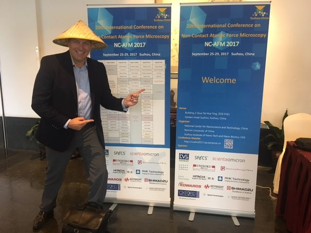 NanoWorld CEO Manfred Detterbeck at the 20th internationl  conference on non-contact atomic force microscopy in Suzhou