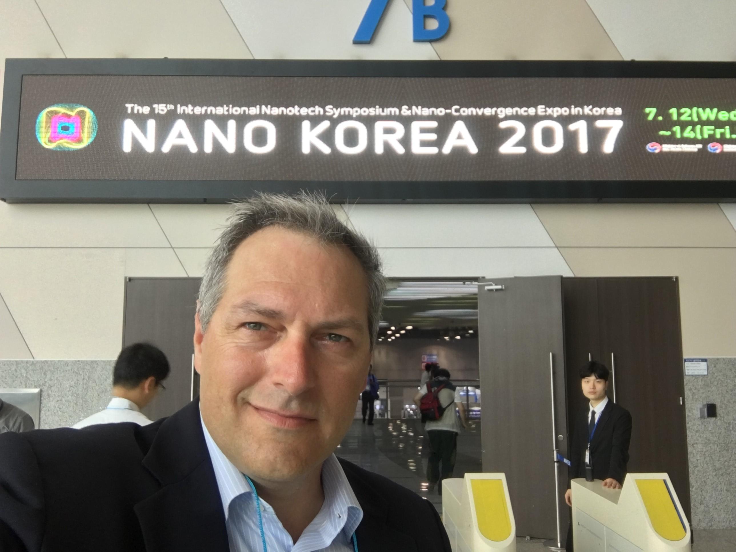 NanoWorld AFM tips CEO Manfred Detterbeck at Nano Korea 2017