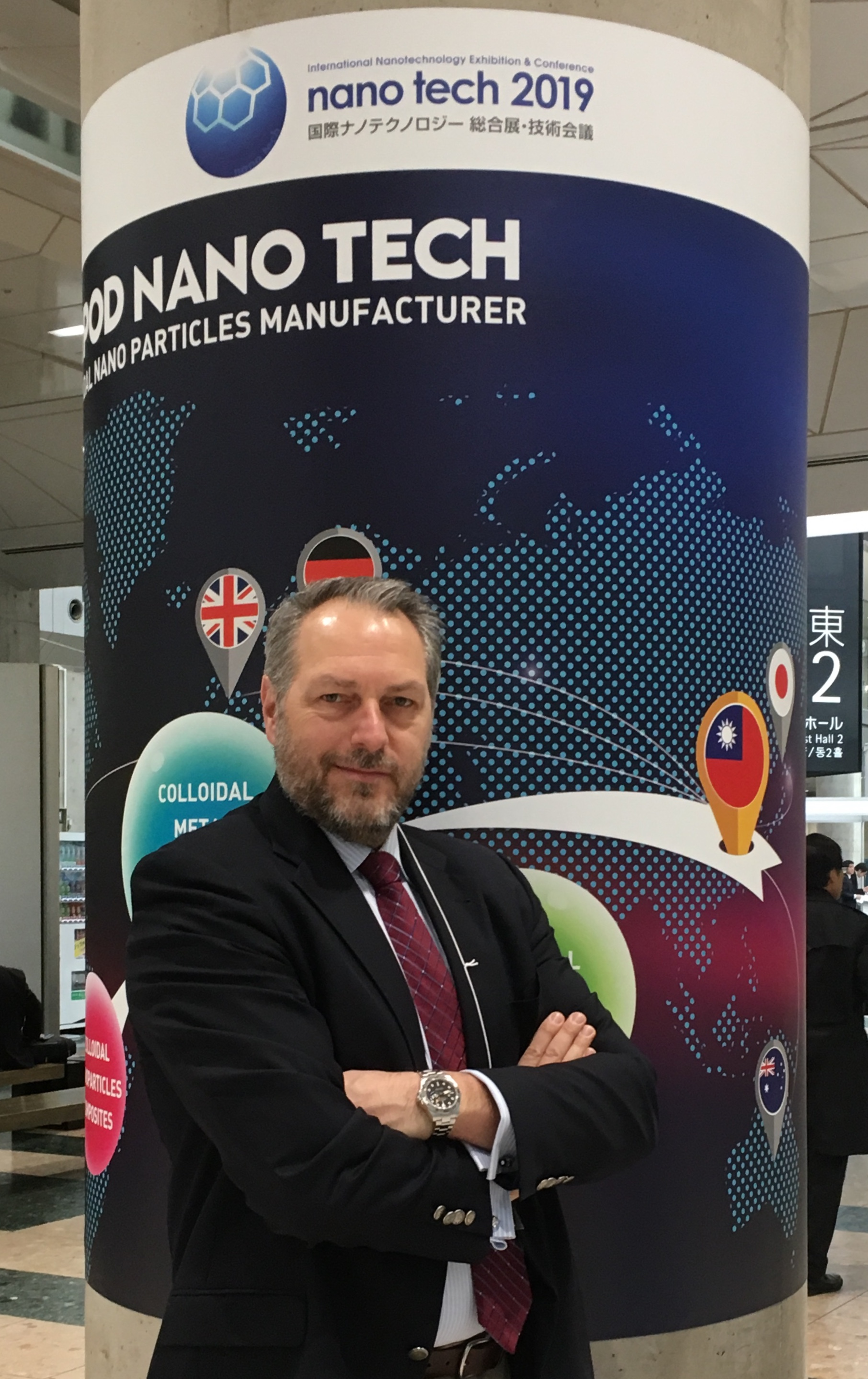 NanoWorld AFM probes CEO Manfred Detterbeck at the nanotech 2019