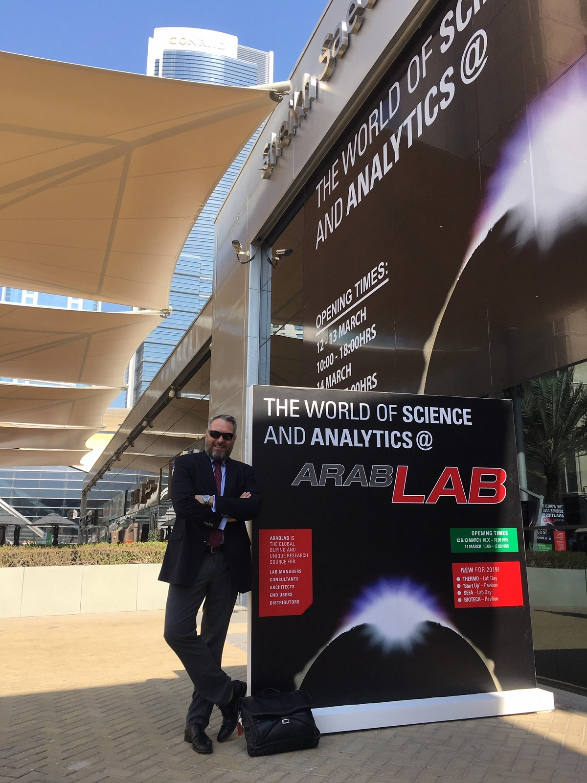 NanoWorld CEO Manfred Detterbeck at Arablab 2019